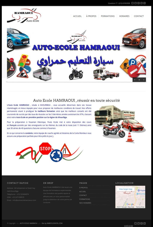 creation site web maroc auto ecole khouribga
