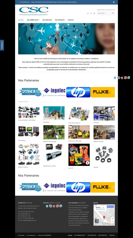 creation site web maroc csconseil