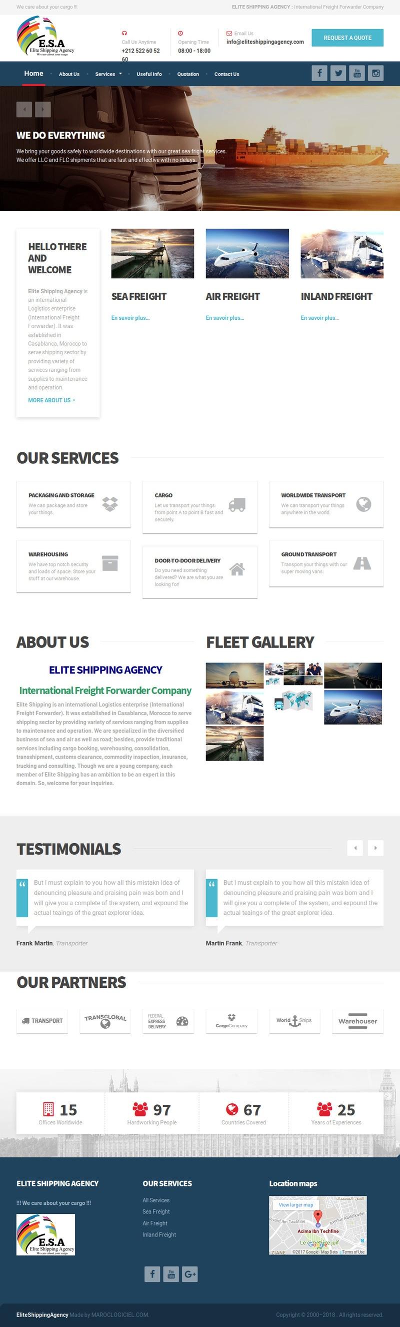creation site web maroc elite shipping maroc