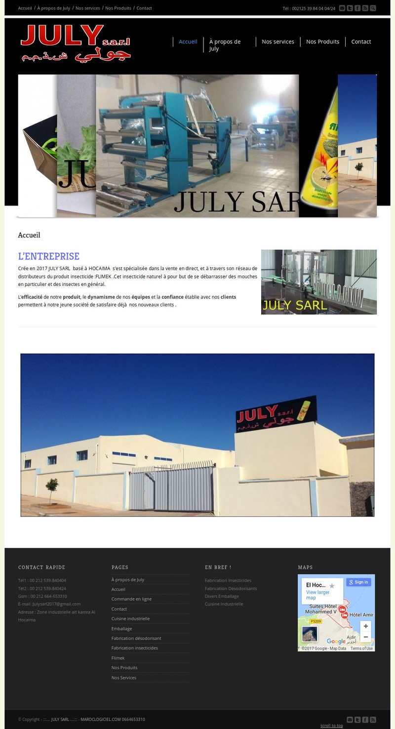 creation site web maroc july sarl