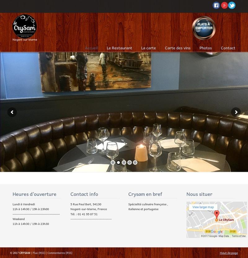 creation site web maroc le crysam france
