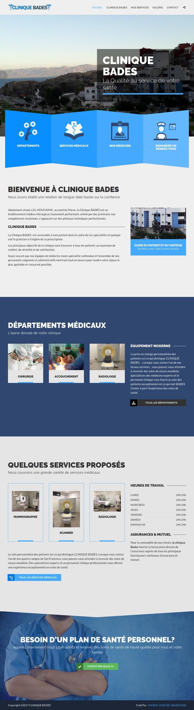 creation site web maroc lider caro clinique nord