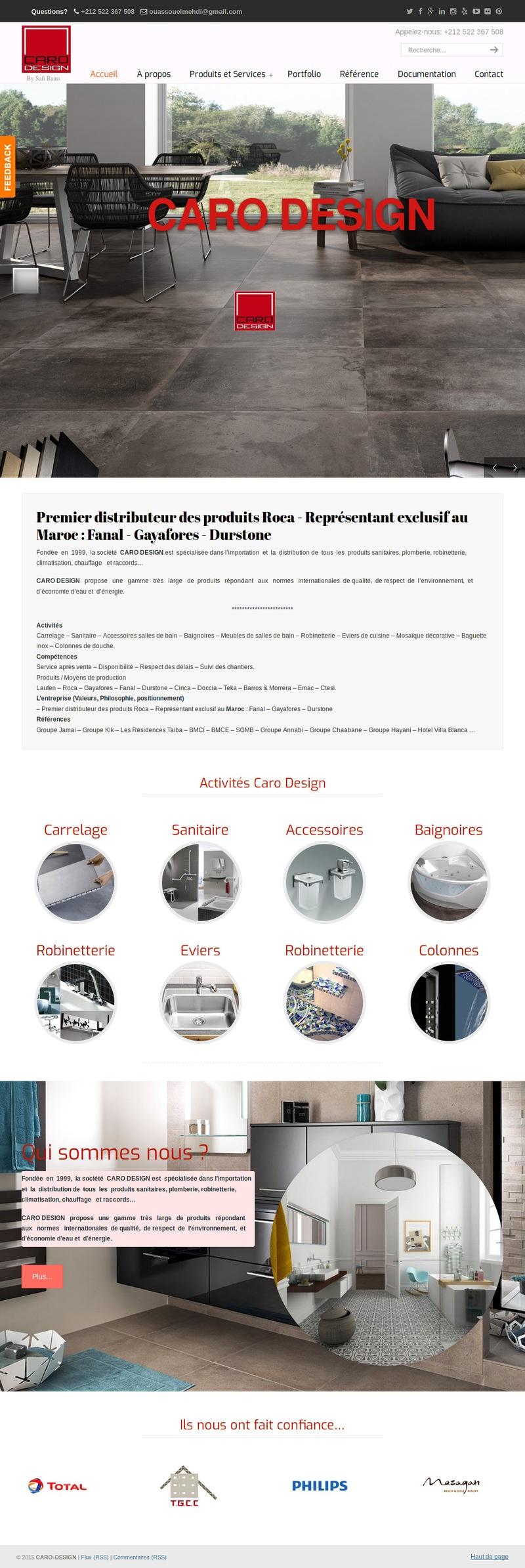 creation site web maroc lider caro design safia bains