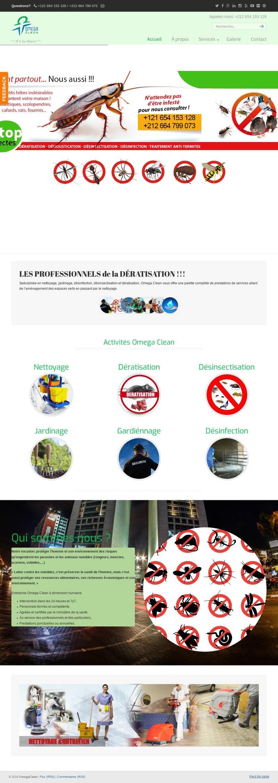 creation site web maroc lider omega clean