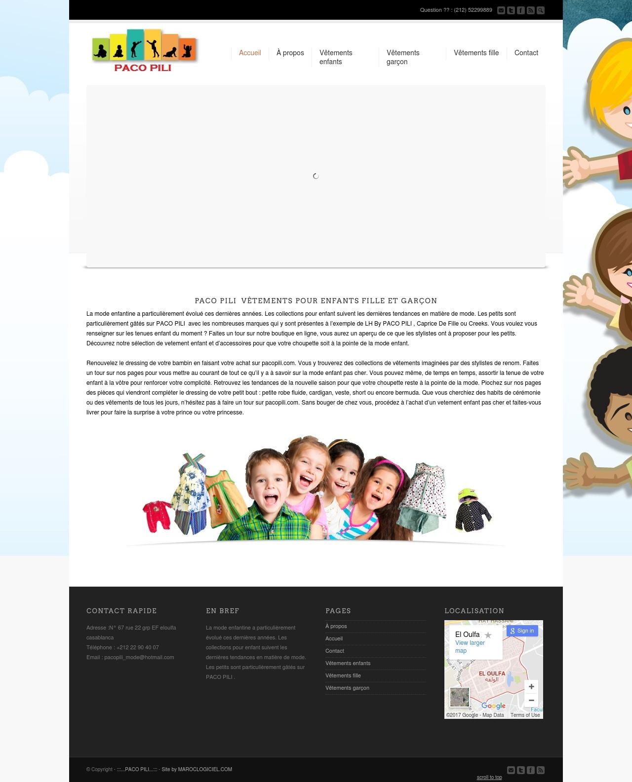 creation site web maroc paco pili