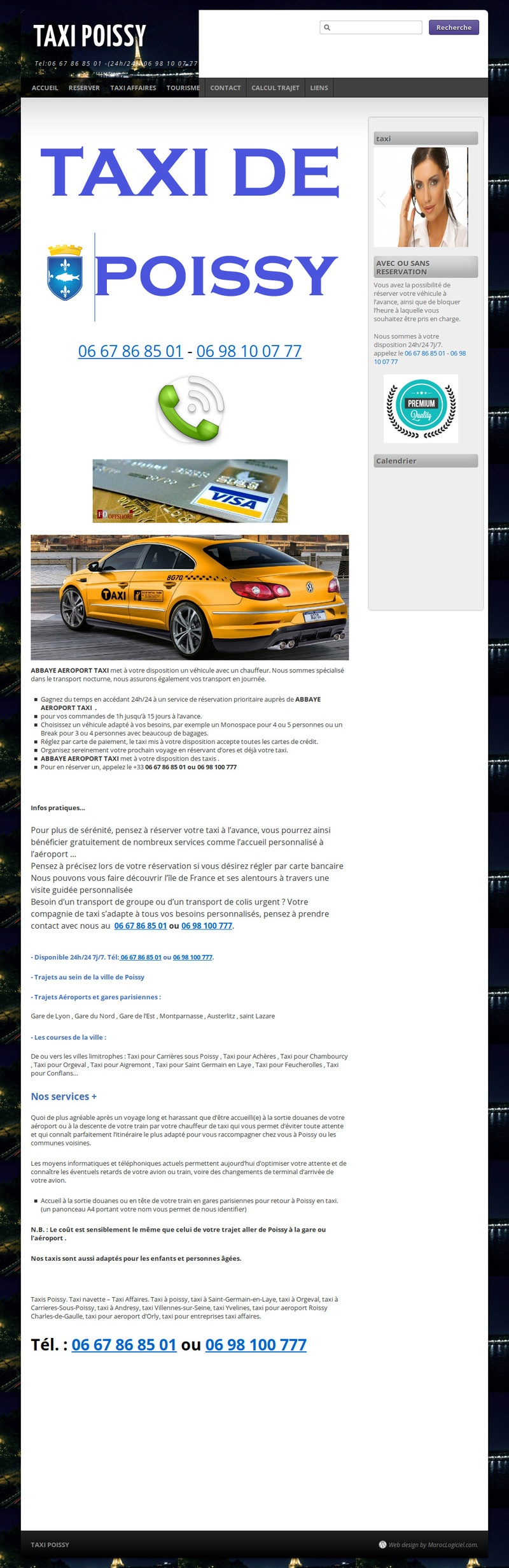 creation site web maroc taxis poissy france